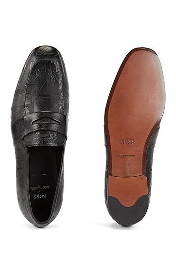 男士商务休闲乐福鞋,  001_黑色