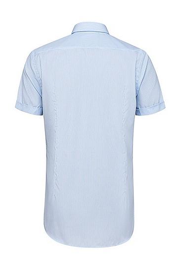 男士商务休闲修身衬衫,  451_浅蓝色