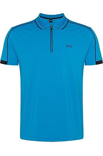 男士休闲时尚短袖polo衫T恤衫,  431_亮蓝色