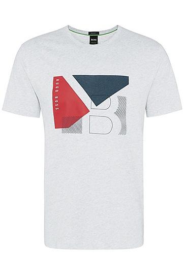 男士商务休闲修身短袖T恤,  057_浅灰色