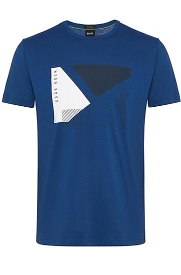 男士商务休闲修身短袖T恤,  462_淡蓝色