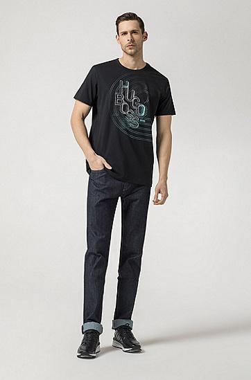 男士深色休闲时尚商务T恤,  001_黑色