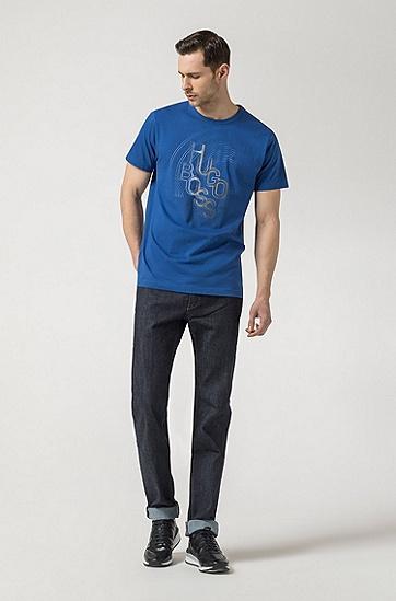男士深色休闲时尚商务T恤,  462_淡蓝色