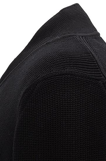 PORSCHE联名款男士商务休闲长袖开衫针织毛衣,  001_黑色