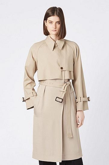 女士休闲时尚风衣,  267_中米色