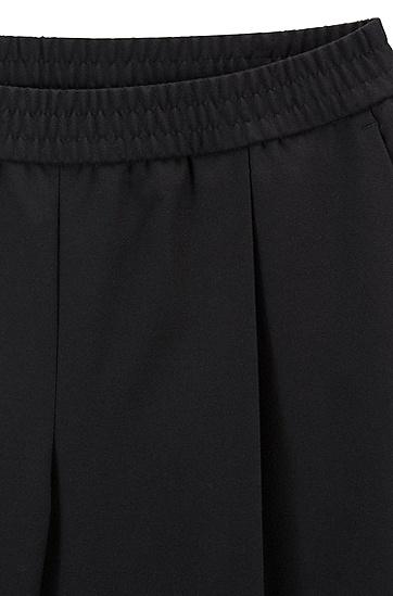女士时尚休闲长裤,  001_黑色