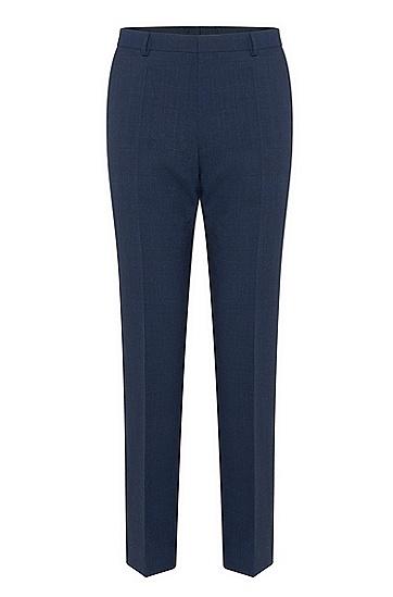 男士深蓝色纯色收腰商务西服套装,  475_淡蓝色