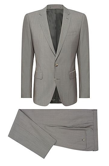 男士纯色商务职业西服套装,  266_中米色