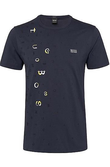 男士休闲短袖T恤,  410_海军蓝色