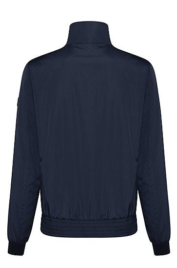 男士时尚长袖休闲外套夹克,  402_暗蓝色