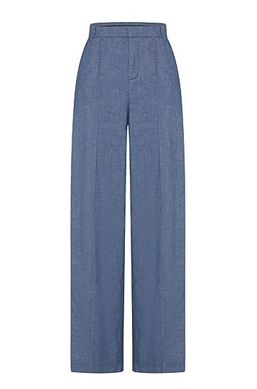 女士时尚休闲商务修身西裤,  464_淡蓝色