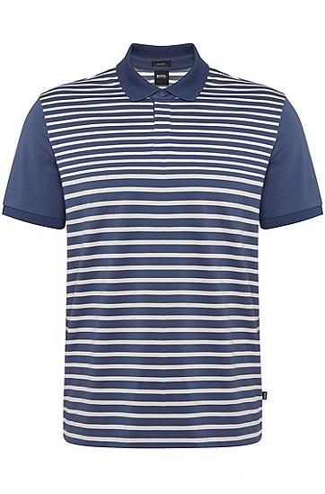 男士条纹短袖Polo衫,  475_淡蓝色