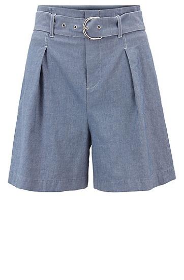女士时尚休闲短裤,  464_淡蓝色