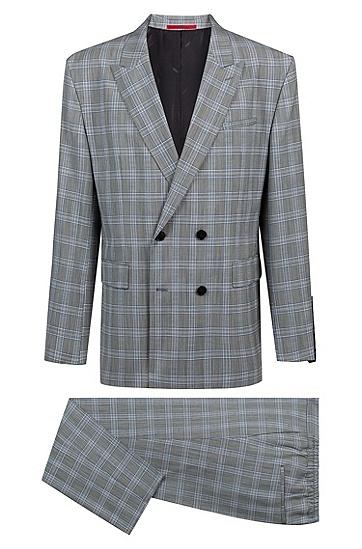 男士时尚都市西服套装,  084_淡灰色