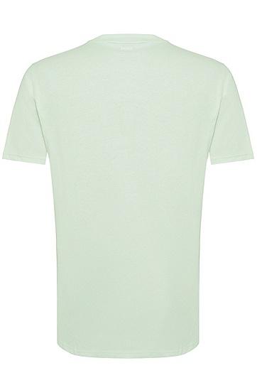 男士休闲短袖圆领印花T恤,  335_浅绿色