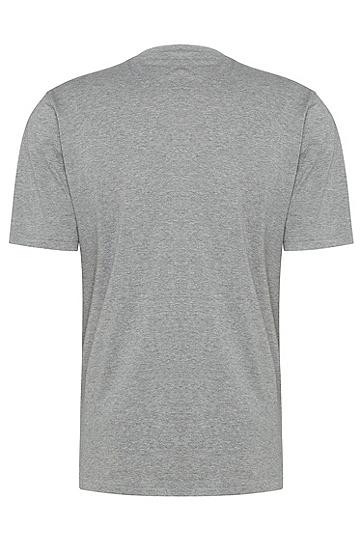 男士休闲LOGO印花短袖T恤,  051_浅灰色