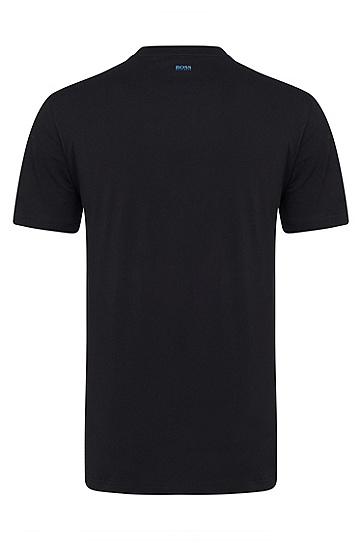 男士商务休闲修身短袖T恤,  001_黑色