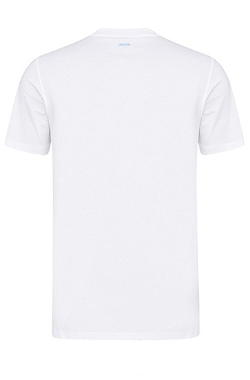 男士商务休闲修身短袖T恤,  100_白色