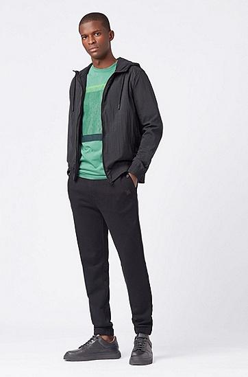 男士休闲短袖印花T恤,  345_淡绿色