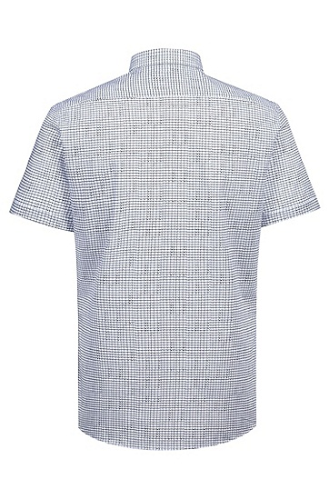 男士短袖衬衫,  199_淡白色