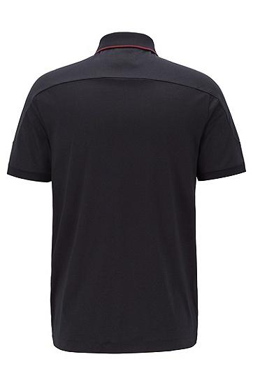 PORSCHE联名款男士时尚休闲短袖polo衫,  001_黑色