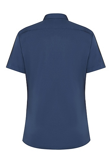 男士时尚休闲衬衫,  405_暗蓝色