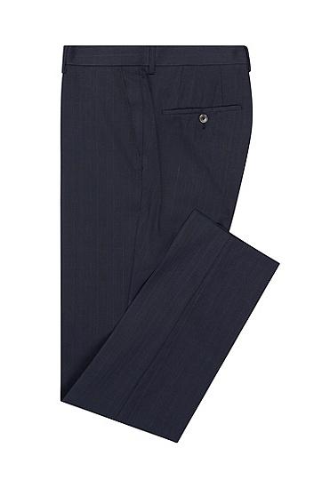 男士条纹拼接时尚商务西服套装,  480_淡蓝色
