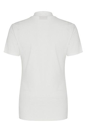 女士休闲短袖针织衫,  102_天然色