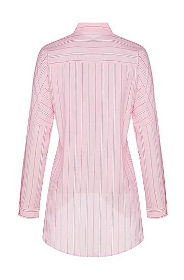 女士粉色时尚商务休闲格子衬衫,  963_多色