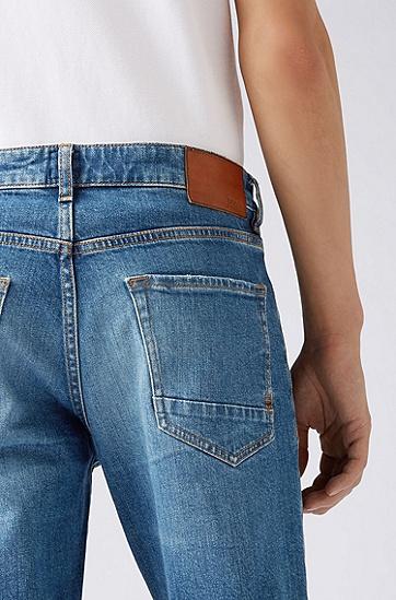 男士时尚休闲牛仔短裤,  416_海军蓝色
