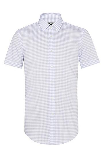 男士时尚休闲衬衫,  421_中蓝色