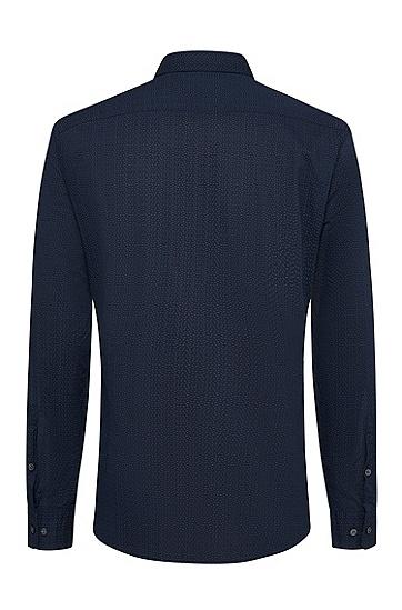 男士休闲时尚长袖衬衫,  480_淡蓝色