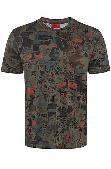 男士休闲商务短袖T恤,  217_中棕色