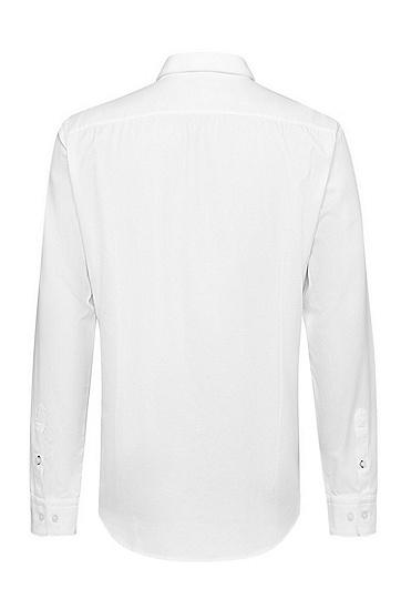 男士商务休闲修身长袖白衬衫,  100_白色