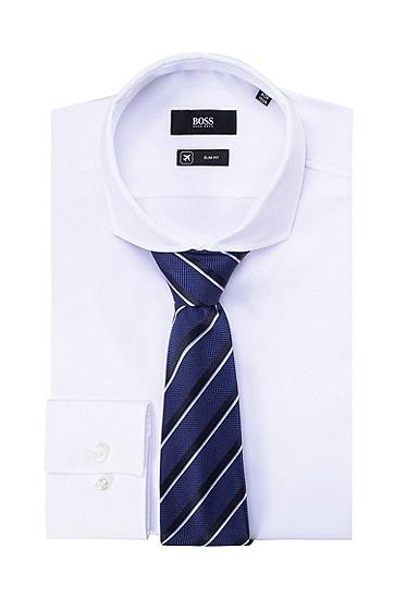 男士商务休闲条纹桑蚕丝领带,  481_淡蓝色