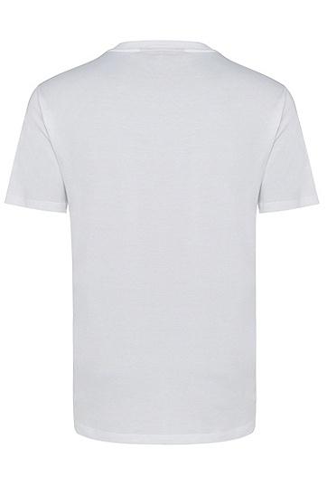 男士商务休闲短袖印花T恤,  100_白色