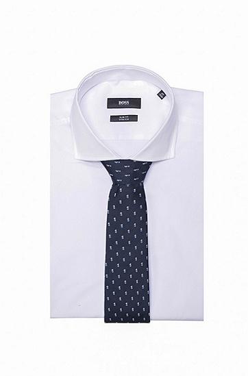 男士商务休闲印花领带,  402_暗蓝色