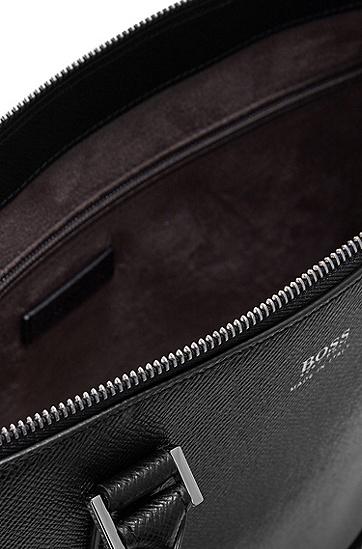 男士商务休闲皮革时尚公文包,  001_黑色