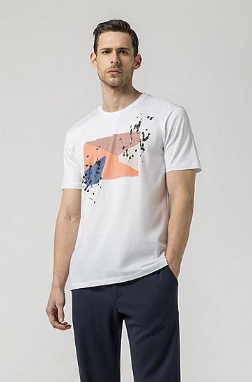 男士时尚休闲短袖T恤,  100_白色