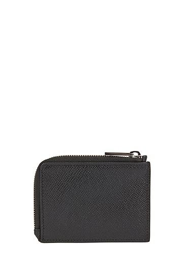 男士短款拉链钱包卡包,  001_黑色