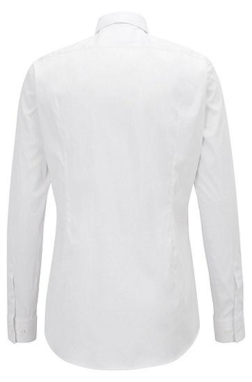 男士商务纯色长袖衬衫,  100_白色