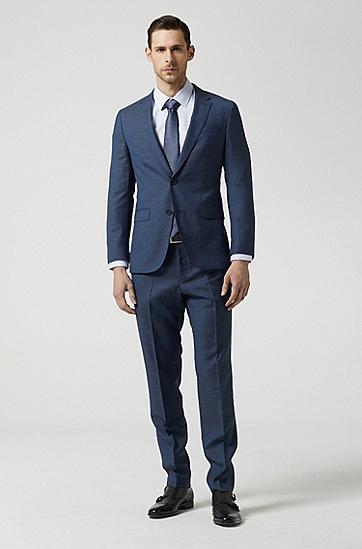 男款纯色修身商务西服套装,  419_海军蓝色