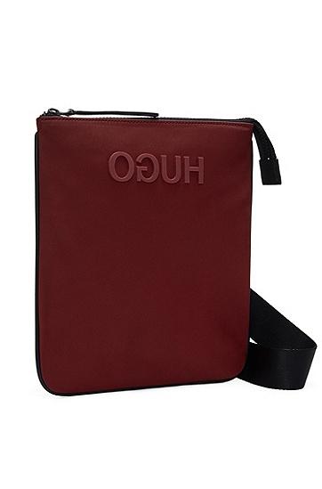 男士商务休闲斜挎包袋,  603_暗红色