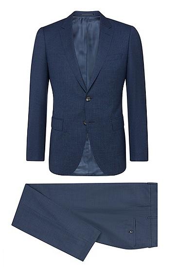 男士天空蓝纯色纽扣修身西服套装,  475_淡蓝色