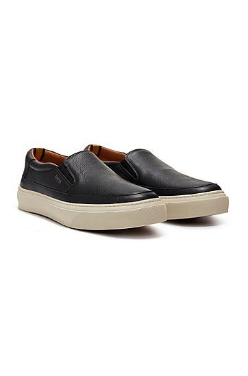 男士休闲皮鞋,  001_黑色