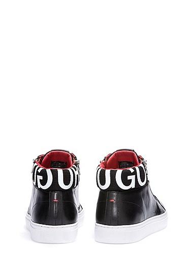 男士休闲运动高帮系带鞋,  001_黑色