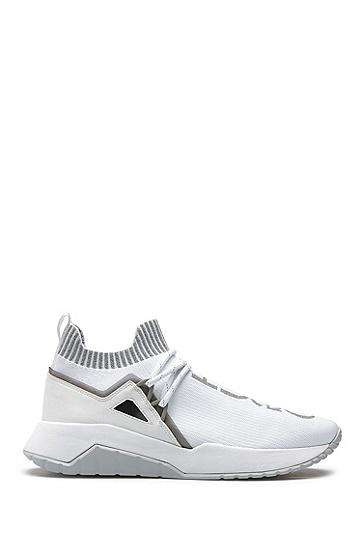 男士时尚高帮运动鞋,  100_白色