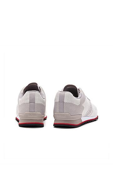 男士休闲运动低帮系带鞋,  050_浅灰色
