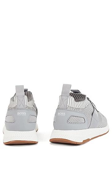 男士时尚休闲运动鞋,  050_浅灰色