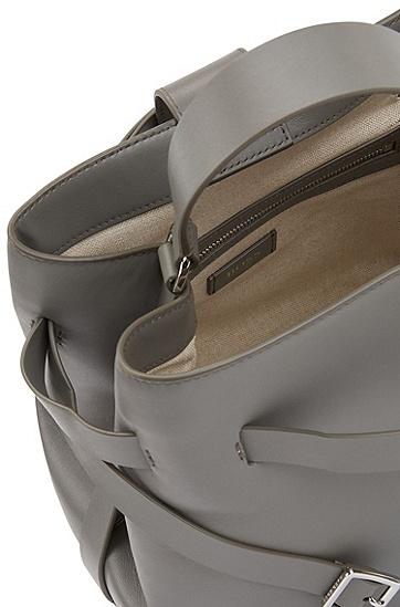 女士手提皮包,  091_淡灰色